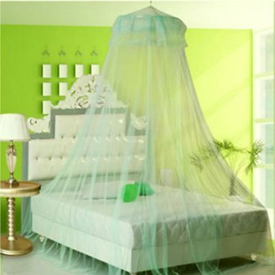 Round Elegant Lace Bed Mosquito Netting Mesh Canopy Princess Dome Bedding Net US
