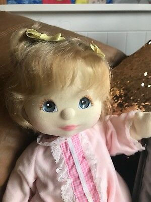 My Child Doll ash double topknot blue eyes peach pink makeup