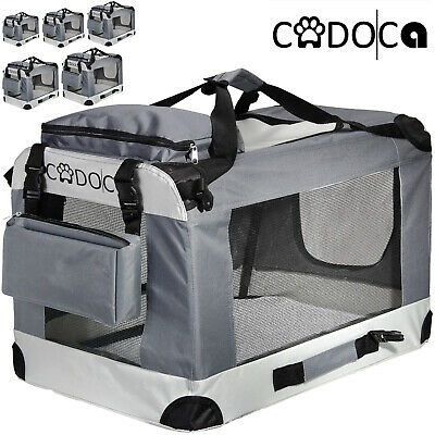 CADOCA® Hundetransportbox faltbar Hunde Box Transport Tierbox Tier Tiere tragbar