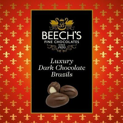 Beech's Fine Chocolate - Luxury Dark Chocolate Brazils - 3 x 90g