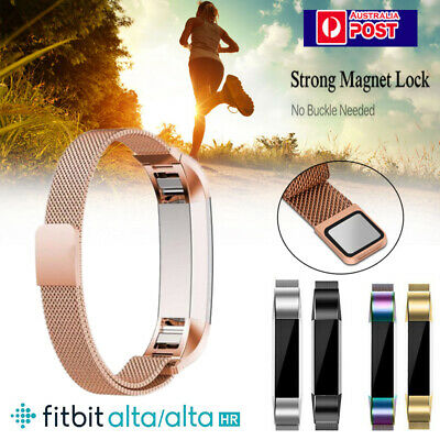 Stainless Metal Watch Wristband Band Strap Bracelet For Fitbit Alta / Alta HR AU