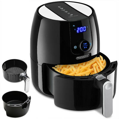 Monzana® Heißluftfritteuse 4,6L 9in1 Touch-Display Heißluftfriteuse max.1500W