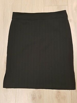 Jacqui e Womens Grey Pinstripe Work Skirt Size 12 Corporate Business made in AU
