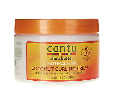 Cantu Shea Butter For Natural Hair Coconut Curling Cream 12oz /340 g
