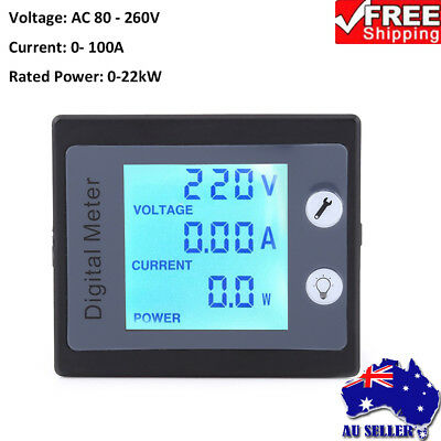 AC 80-260V Electric Monitoring Meter Ammeter Voltmeter Power Energy Tester 1PCS