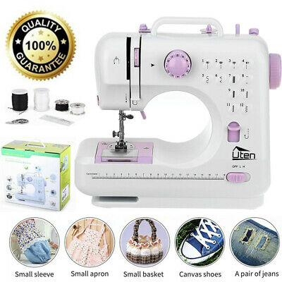 12 Stitches Multifunction Electric Overlock Sewing Machine Household Sewing Tool