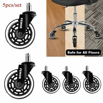 Heavy Duty Chair Swivel Rubber Caster Wheels Office Furniture Chair Castor 180KG