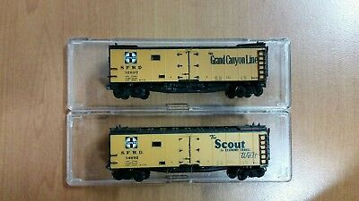 N Scale X2 Intermountain 40F Ice Reefers ATSF Grand Canyon Line & The Scout