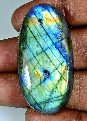 75.50Cts. Natural Multi Labradorite Cabochon Gemstone Oval ;#3910