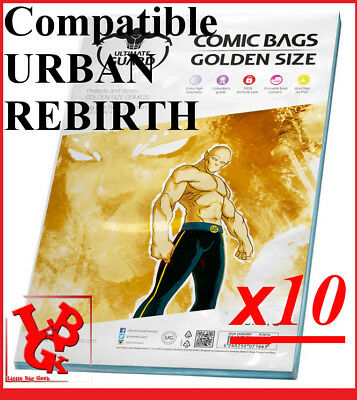 Pochettes Protection GOLDEN Size REFERMABLES comics x 10 Bags URBAN # NEUF #