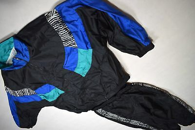 Trainings Sport Anzug Track Suit Nylon Glanz Shiny Vintage Karneval Bad Taste XL