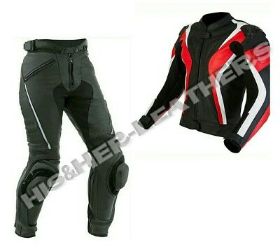 New-Sports 2-Piece Motorbike/Motorcycle Leather Suit Men Racing-MotoGp-All Size