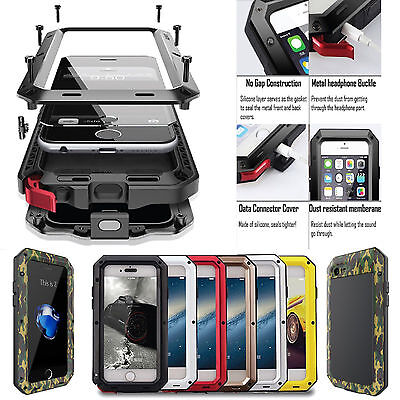 Heavy Duty Shockproof Bumper Aluminum Metal Case Cover F iPhone X 8 7 6s Plus 5s