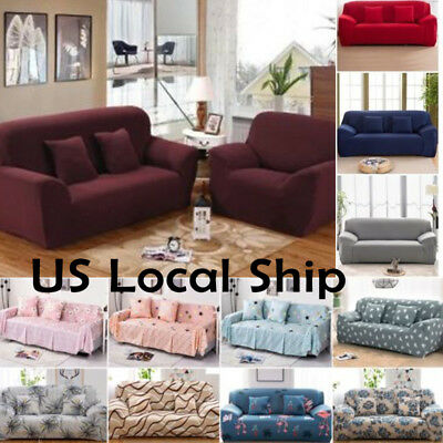 Stretch Chair Sofa Love Seat Covers 1 2 3 Seater Protector Couch Cover Slipcover