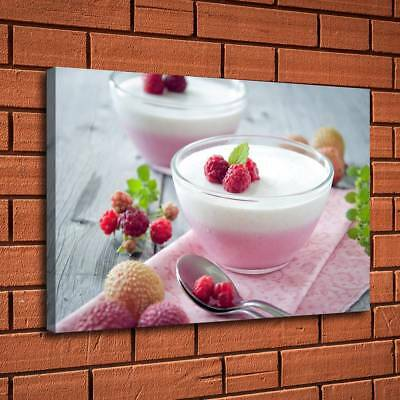 Ice Cream Litchi Fruit Home Decor Room HD Canvas Print Picture Wall Art Painting