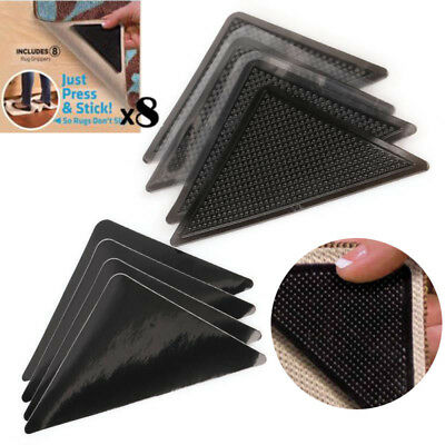 1/4/8Pcs Ruggies Rug Carpet Mat Grippers Non Slip Skid Reusable Washable Grip