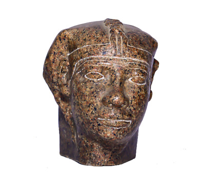 Heavy Red Granite Head of King Userkaf Ancient Egyptian Statue