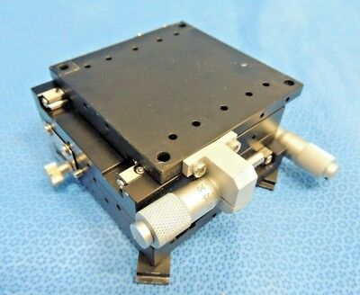 Newport UMR Series X-Y Linear Stage 80X80mm Misumi MCMH6 Micrometer 25mm Travel