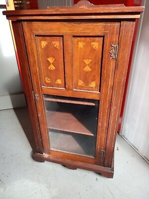 Antique Pianola Roll Music Storage Cupboard.
