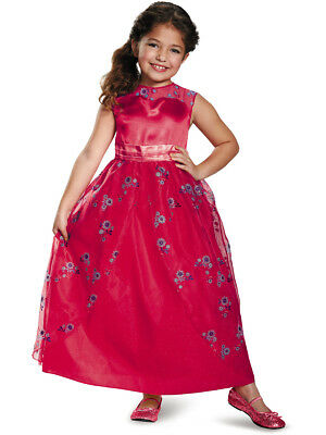 Child's Girls Disney Princess Elena Of Avalor Ball Gown Dress Costume