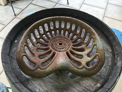 Original Vintage Collectable SUNSHINE H V McKAY Cast Iron Tractor Seat Heavy