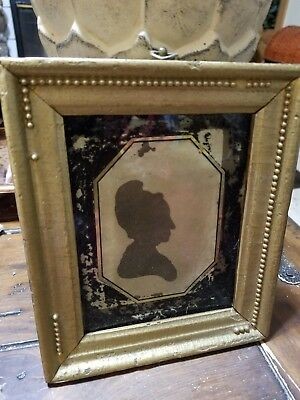~*~ESTATE FIND~*~  Old American Antique Cut Out Silhouette Folk Frame 1800s?