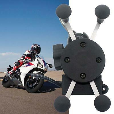 X-Grip RAM Motorcycle Bike Car Mount Cellphone Holder USB Charger For Phone IGO
