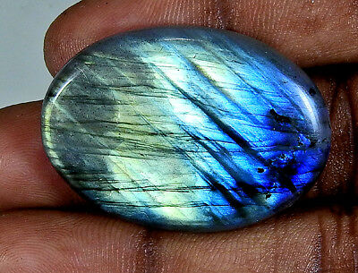 53Cts. Natural Multi Labradorite Cabochon Gemstone Oval ;#3839