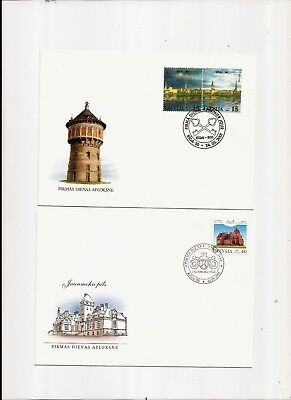 2 Briefe F.D.C. Lettland 2001/02