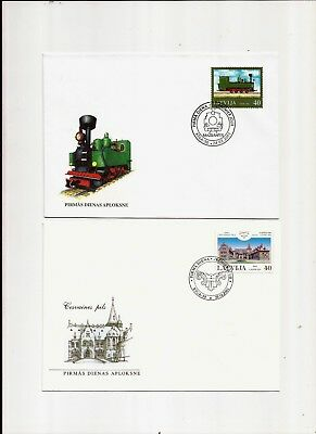 2 Briefe F.D.C. Lettland 2001