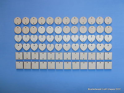 PLAIN BLANK WOODEN UNPAINTED 22mm MINI SHAPES FOR BIRTHDAY / ANNIVERSARY PLAQUE