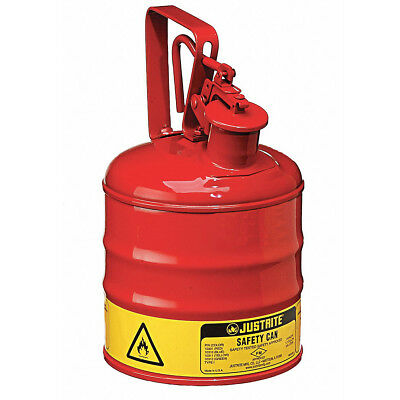 Justrite AccuFlow Type I RED SAFETY CAN 3.8Ltr Galv Steel Jerry Can MADE IN USA