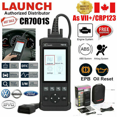 LAUNCH CR7001S OBD2 Diagnostic Tool Scanner Code Reader As CRP129 VII+ Oil Reset