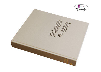 "Monesta Leather Slip-In Photo Album, Kashmir Cream (holds 120 photos 5""x7"")"