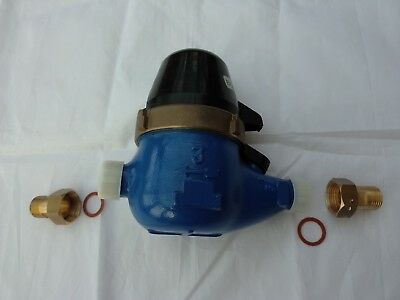 "1/2"" BSP Multijet Dry Dial Water Meter with or without Reed Switch"