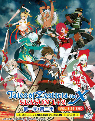 Anime DVD Tales Of Zestiria The X Season 1+2 *Eng Dub* (Vol.1-24 End) + Free DVD