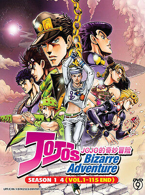 DVD Anime: JoJo's Bizarre Adventure Season 1-4 (Vol.1-115 End) *Free Shipping*