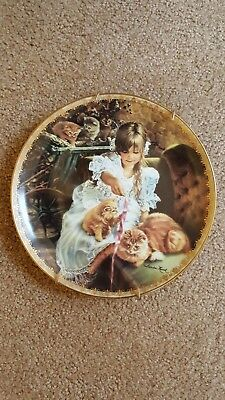 """Pre-Owned MOMENTS OF TENDERNESS BY SANDRA KUCK """"MOMENTS AT HOME"""" PLATE 8 1/4 """""""