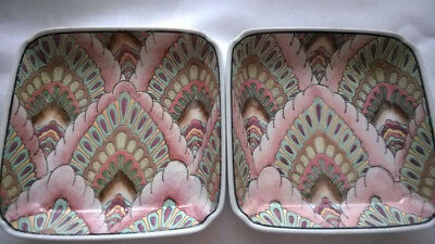 Decorative Ceramic collection hand-painted. -  20th century - 2 pc
