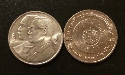 Thailand Coin 20 Baht BE 2545 (2002) 100 Year Commemorate Thai Banknote UNC.