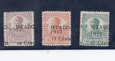 Spanish Guinea 1918 Selection of Surcharges Mint