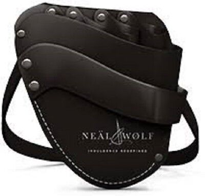 Neal and Wolf Black Leather Hairdressers Holster Pouch