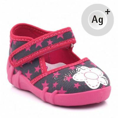Baby Toddler Girls Canvas Shoes Kids Sandals #2 (UK / EU All Sizes)