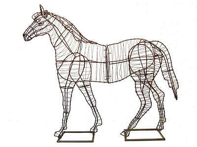 Horse Metal Wire Topiary Frame Large