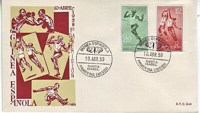 Spanish Guinea - Sports Series Issue (PO FDC) 1958