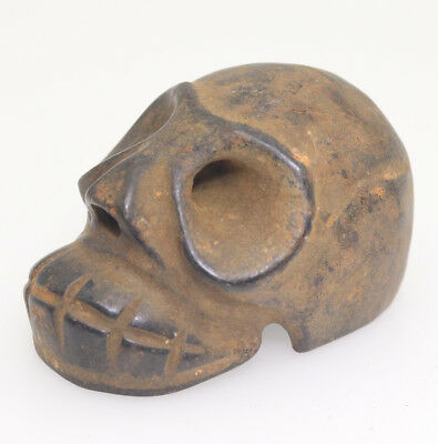 Chinese hongshan culture style jade hand carve exquisite skull head pendant L123