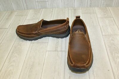 5498bf66fadd10 Skechers Relaxed Fit Superior Gains Leather Loafers, Men's Size 13, Brown