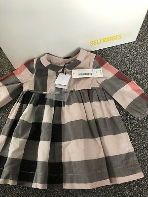 Burberry Baby Girl Dress New With Tags Size 9 Months RRP £160