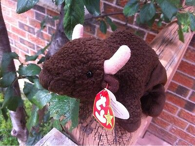 Ty Beanie Babies Collection Roam Plush Stuffed Animal Toy 1998