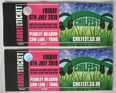2x Chilfest Tring Friday 6th July Adult Tickets
